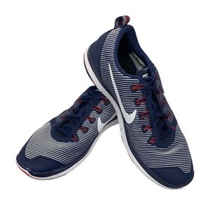 Nike Flywire Patriotic USA Red White & Blue Tennis Shoes 833336–416 Men's 13